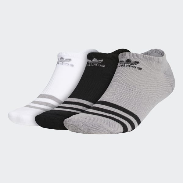 Roller No Show Socks 3 Pairs Grey CH7699