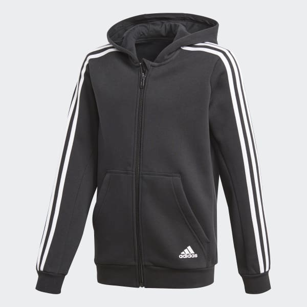 Essentials 3-Stripes Hoodie Black CF6582
