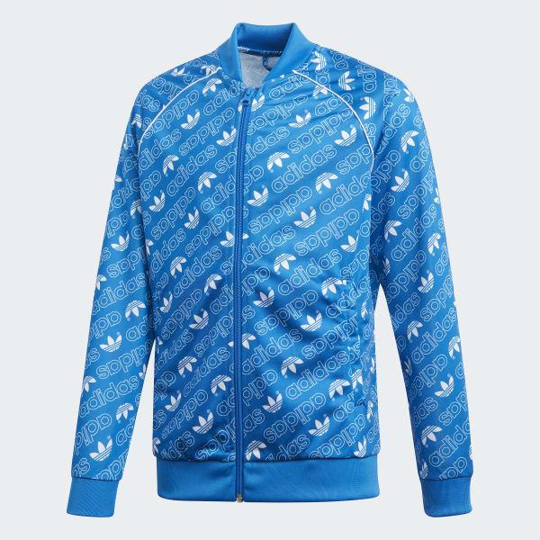 Trefoil Monogram SST Originals Jacke blau DI0262