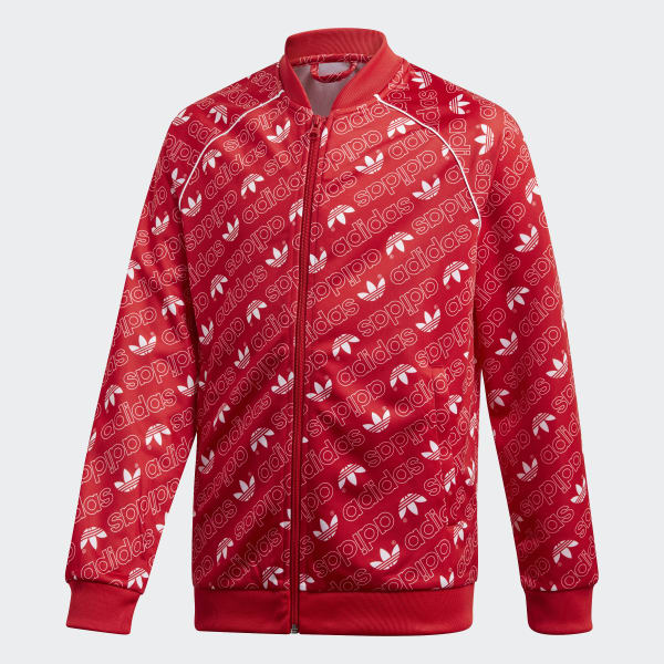 Trefoil Monogram SST Track Jacket Red DI0263