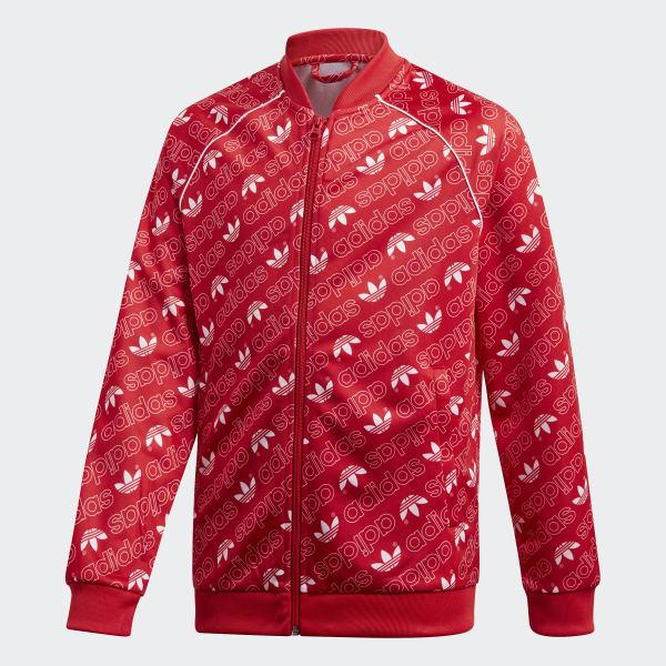 Trefoil Monogram SST Trainingsjack rood DI0263