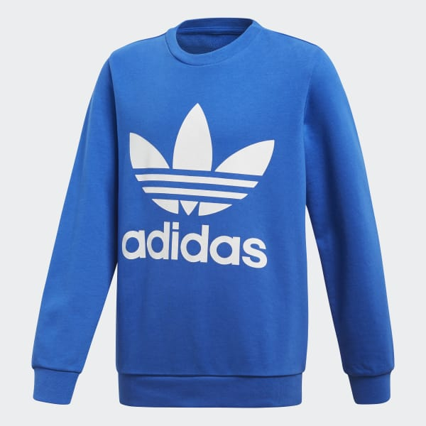 Sweat-shirt Trefoil Crew bleu CF8566