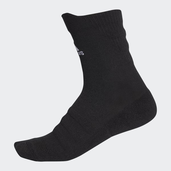 Alphaskin Lightweight Cushioning Crew Socks Black CV7428