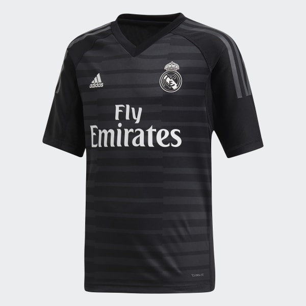 Jersey de Arquero Real Madrid Local Niño 2018 Negro CG0566