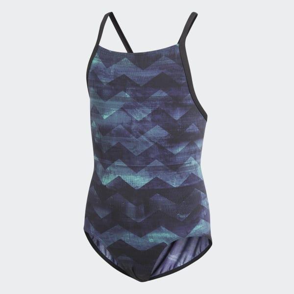 Allover Print Swimsuit Blue CV3635