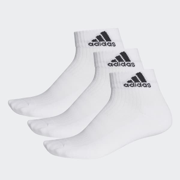 3-Stripes Performance Ankle Socks 3 Pairs White AA2285