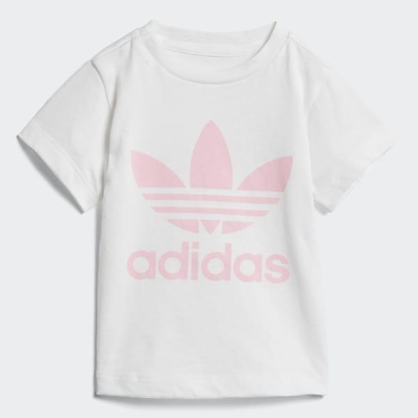 T-shirt Trefoil Bianco D96102