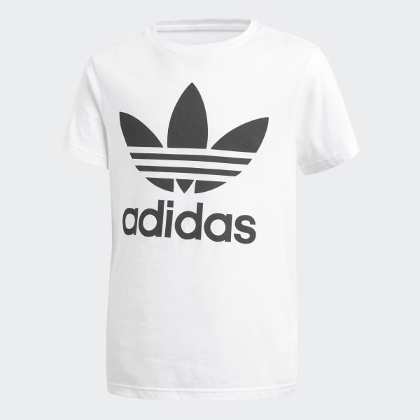 Trefoil T-shirt wit CF8546