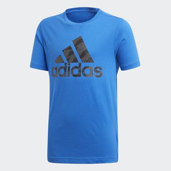 Badge of Sport T-shirt blauw DI0357