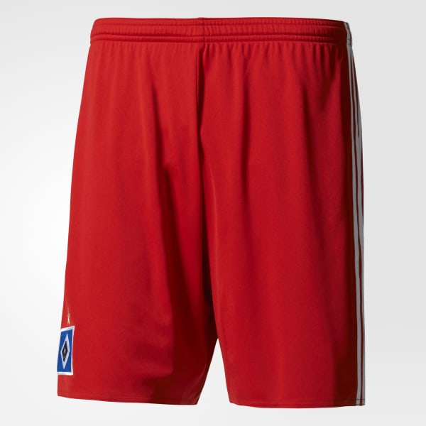 Hamburger SV Home Shorts Red AH5287