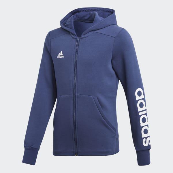 Veste à capuche Essentials 3-Stripes Mid bleu CF7238