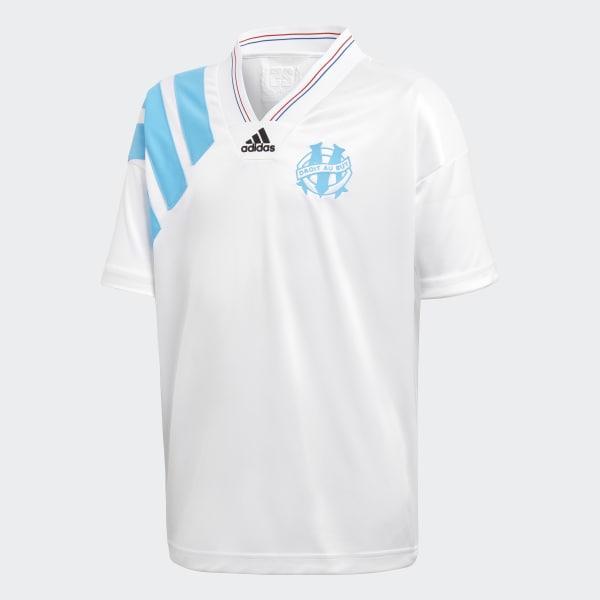 Maillot Olympique Marseille 93 Retro blanc DN2340
