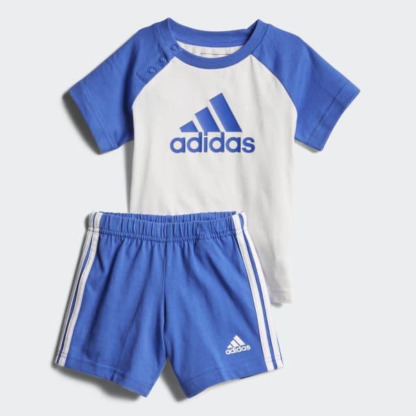 Conjunto Mini Summer WHITE/HI-RES BLUE S18 HI-RES BLUE S18/WHITE CF7409