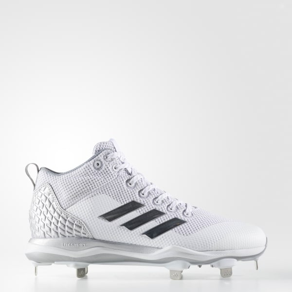 PowerAlley 5 Mid Cleats White B39200