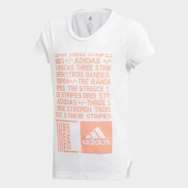 T-shirt Training Graphic blanc DJ1061