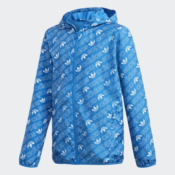 Giacca a vento Monogram Trefoil Blu DH2698