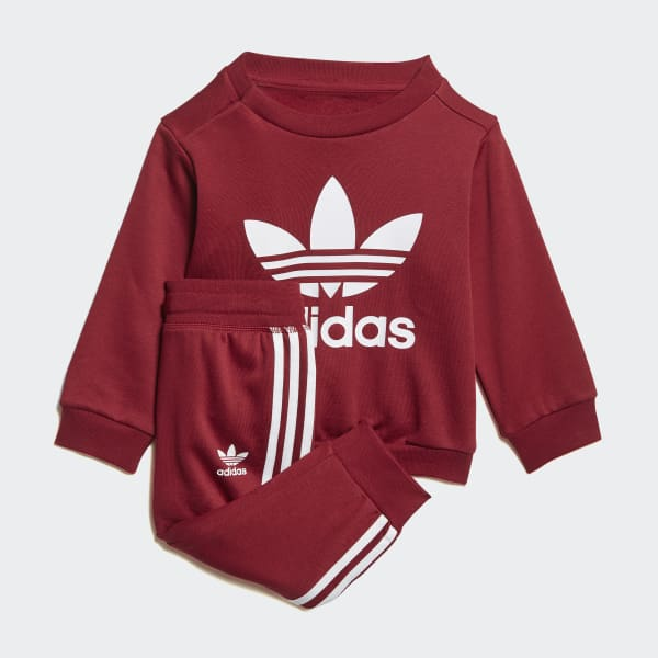 Trefoil Crew Track Suit Red DL8636