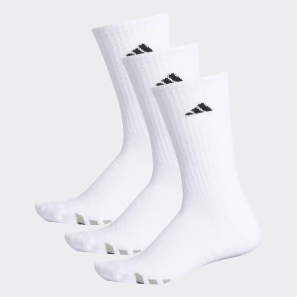 Climalite Cushioned Crew Socks 3 Pairs White H77456