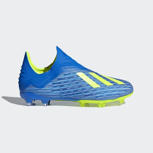X 18+ Firm Ground Cleats Blue DB2285