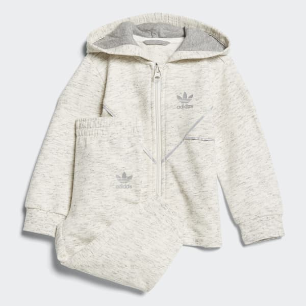 French Terry Hoodie Setje wit CE1141