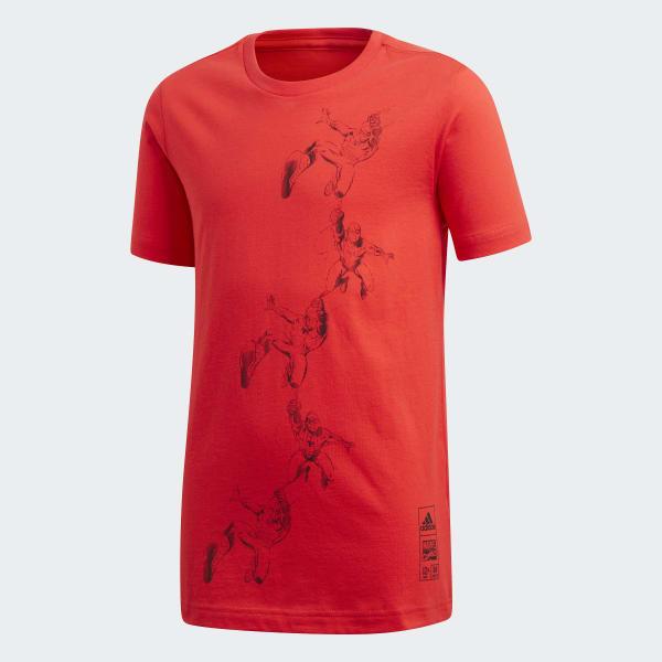Camiseta Marvel Hombre Araña Rojo DM7770