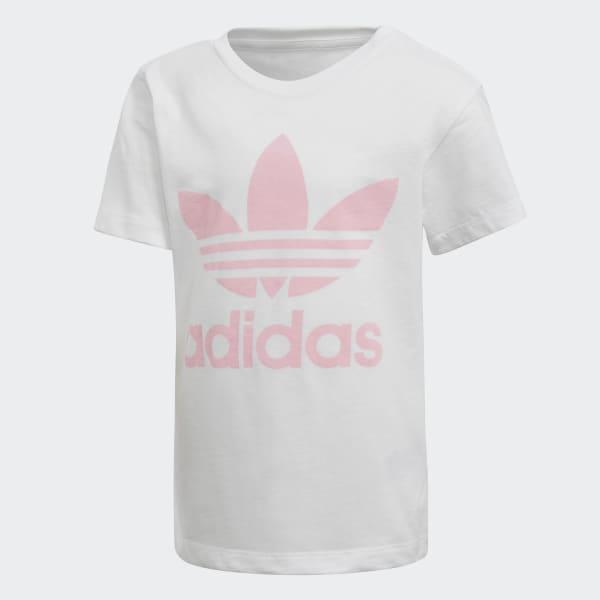 Trefoil T-shirt wit DH2464