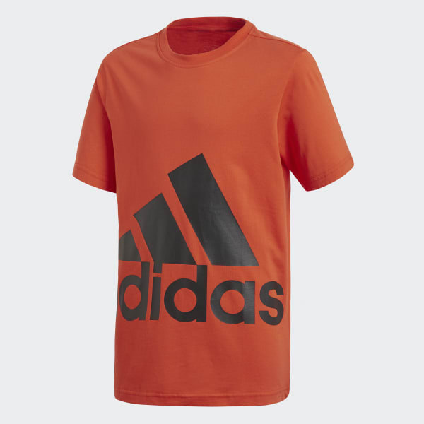 Essentials Big Logo T-shirt oranje CF6522