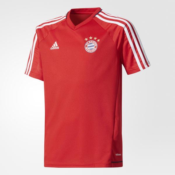 Maillot d'entraînement authentique FC Bayern rouge BQ2465