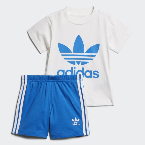 Shorts and Tee Set White D96055