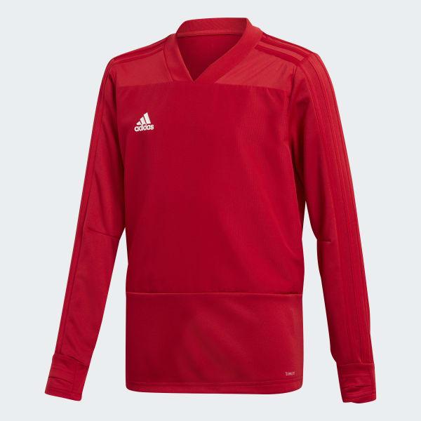 Camiseta manga larga entrenamiento Condivo 18 Player Focus Rojo BS0518