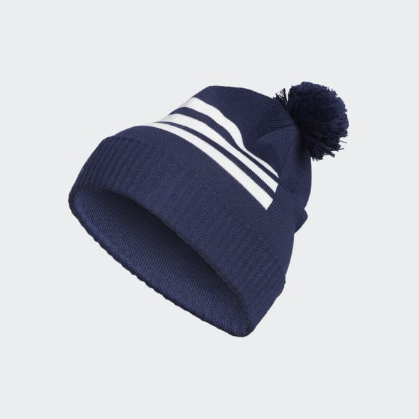 3-Stripes Pompom Beanie Blue DN2217