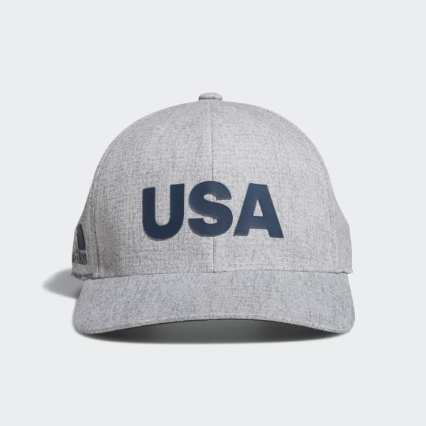 Heathered USA Hat Grey DN4252