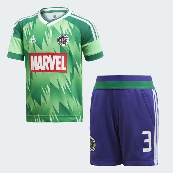 Completo Marvel Hulk Football Verde DI0197