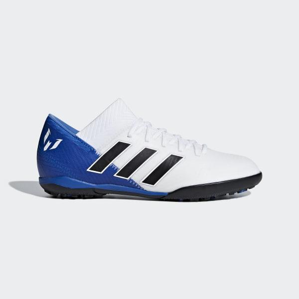 Calzado de fútbol Nemeziz Messi Tango 18.3 Césped Artificial Niño Blanco DB2396