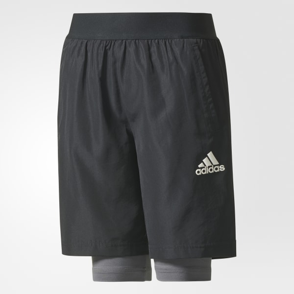 Two-in-One Football Shorts Black CE9219