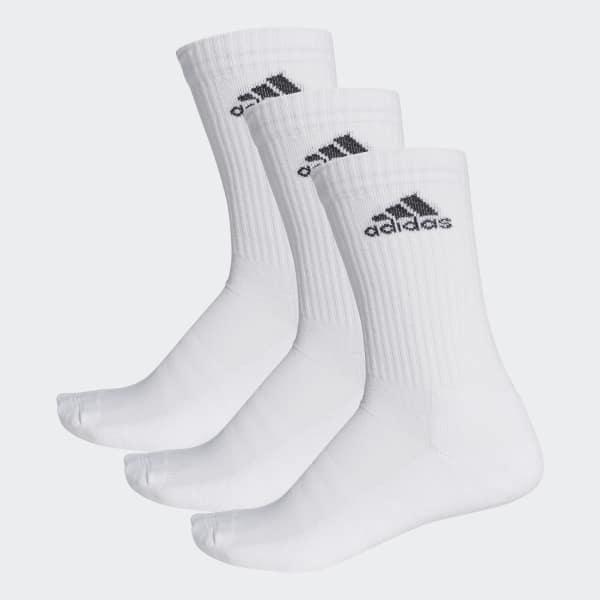 3-Streifen Performance Crew Socken weiß AA2297