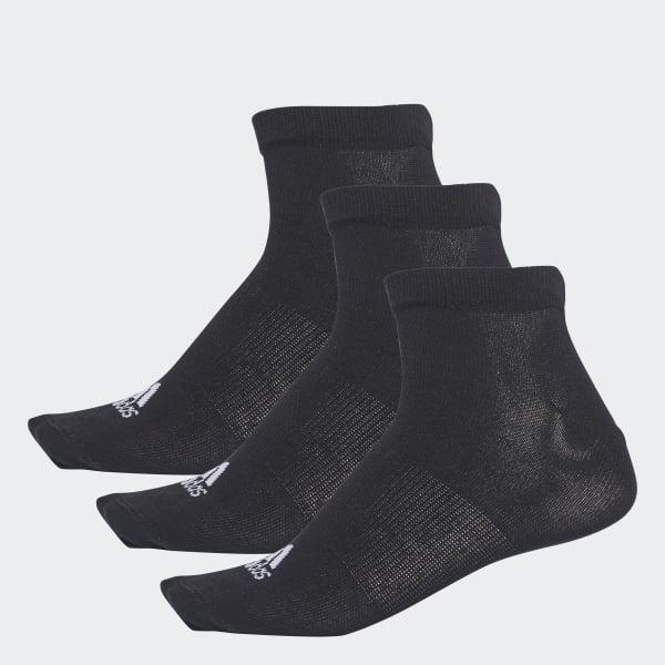 Performance No-Show Thin Socks 3 Pairs Black AA2312