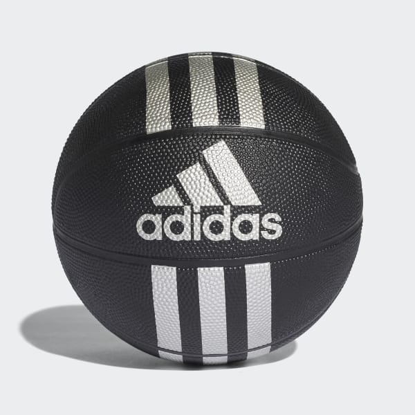 3-Streifen Mini-Basketball schwarz X53045