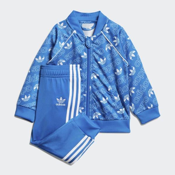 Monogram Trefoil SST Track Suit Blue D96085