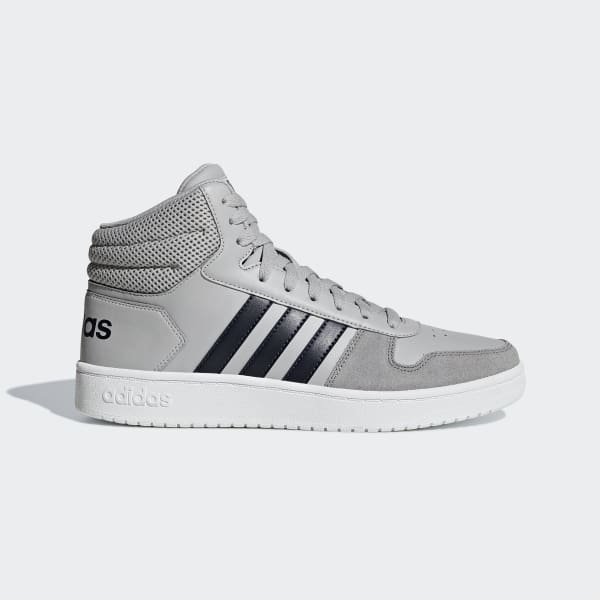Chaussure Hoops 2.0 Mid gris B44680