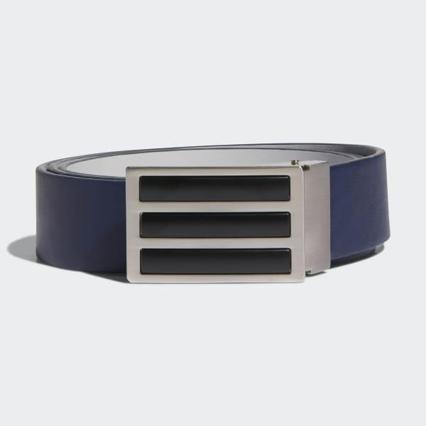 3-Stripes Solid Reversible Belt Blue CZ3535