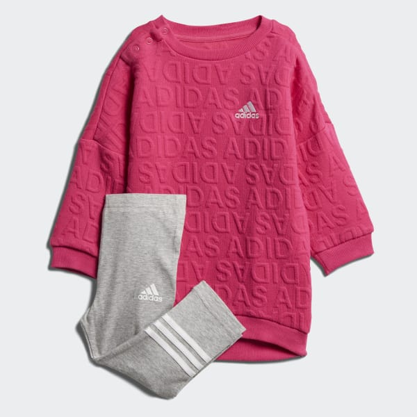 Completo I Sweat Dress Rosa DJ1557
