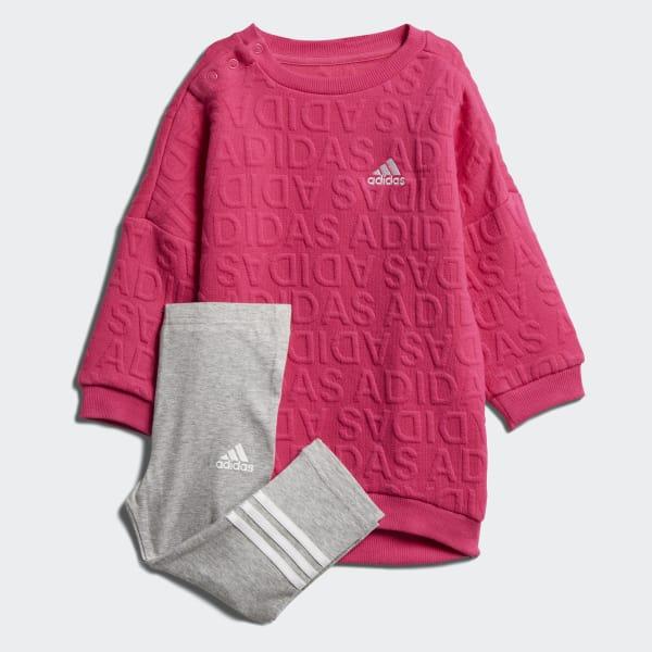 I Sweat Dress Set rosa DJ1557