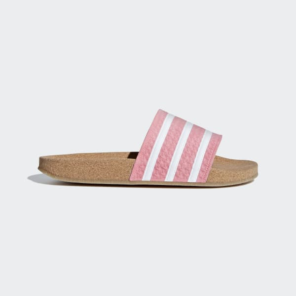 Adilette Cork Slides Pink BC0222