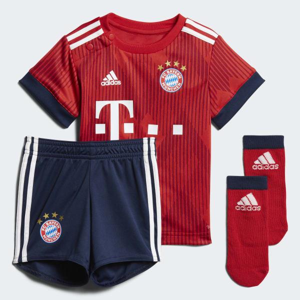 FC Bayern München Mini-Heimausrüstung rot CF5416