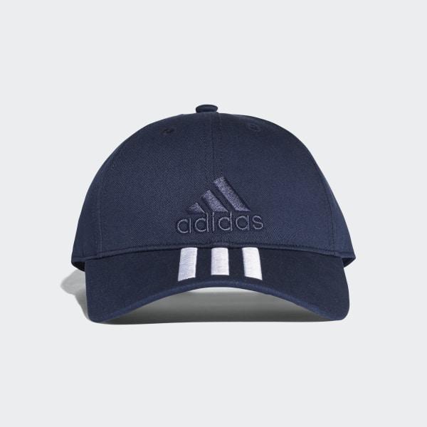 Six-Panel Classic 3-Stripes Hat Blue BK0808
