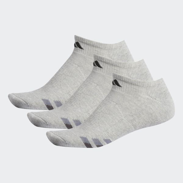 Mens Cushion 3pk No Show Grey H77467