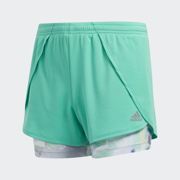 Two-in-One Mesh Shorts Green CJ2736