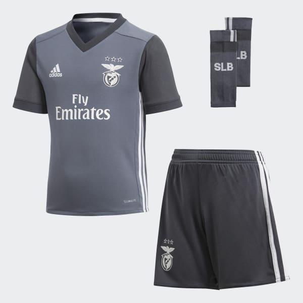 Benfica Lissabon Mini-Auswärtsausrüstung grau B31020