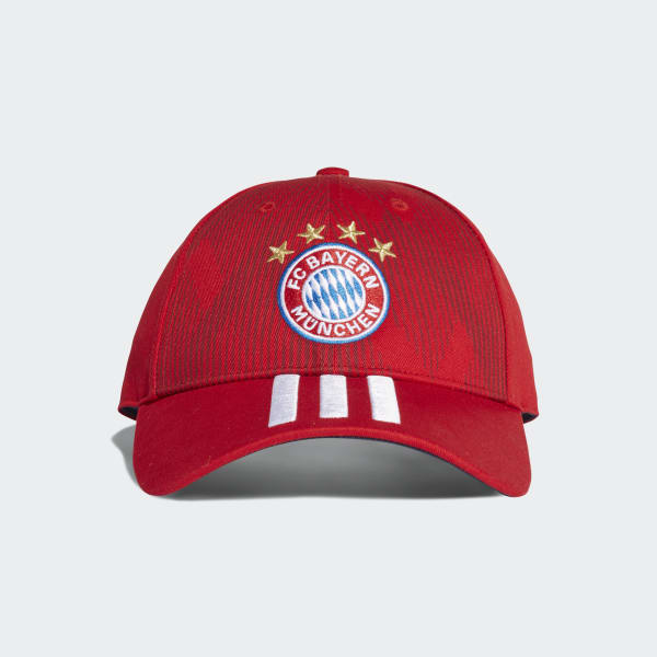 FC Bayern 3-Stripes Hat Red DI0244